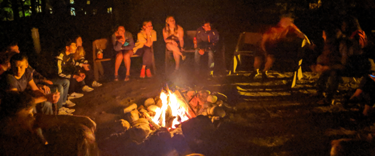 Bonfire at the student government retreat